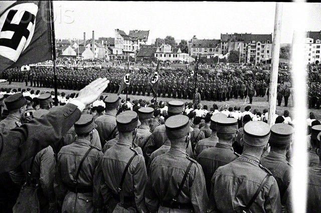 World War II , Nazi Germany Party rally in the Saar, circa 1940-41