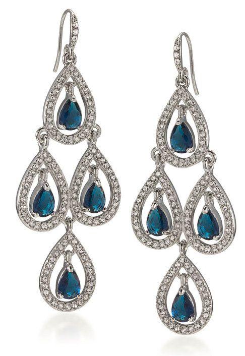 Sapphire Blue Marin Crystal Chandelier Earrings http://www.modelbride.com/Sapphire-Blue-Marin-Crystal-Chandelier-Earrings-Prodview.html