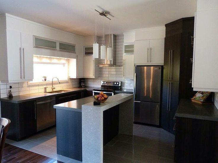 superbe cuisine aux comptoirs de b ton poli avec un. Black Bedroom Furniture Sets. Home Design Ideas