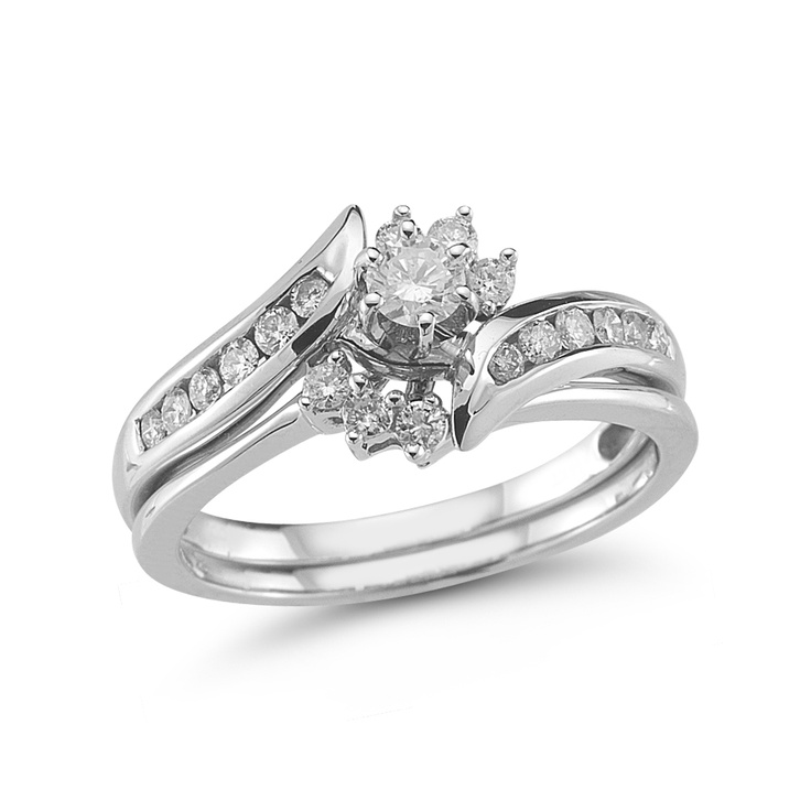 Fine Jewelry Personally Stackable 1/7 CT. T.W. Diamond Ring w/ Heart Charm jvNPNyfz