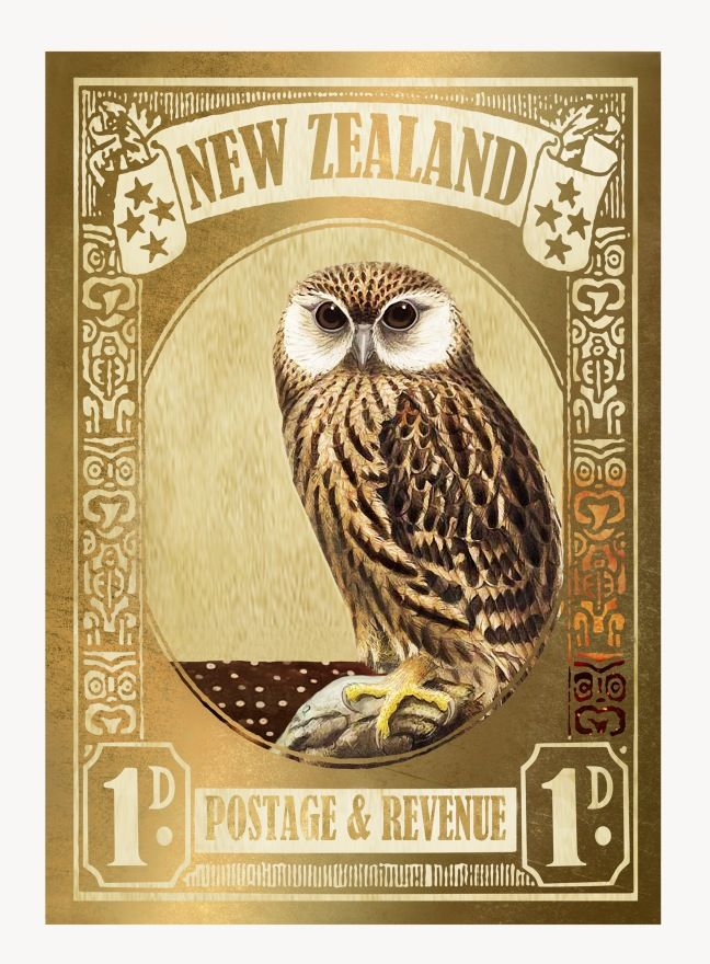 Laughing Owl Gold Stamp