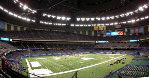 Completed in 1975, the Mercedes-Benz Superdome    home stadium for the NFL's New Orleans Saints