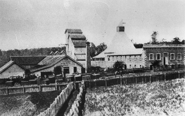 The old brewery is where the Myer and Grand Central now stand.... It was built there because of the natural springs that STILL run underneath... Perkins and Company Brewery, Toowoomba, 1871