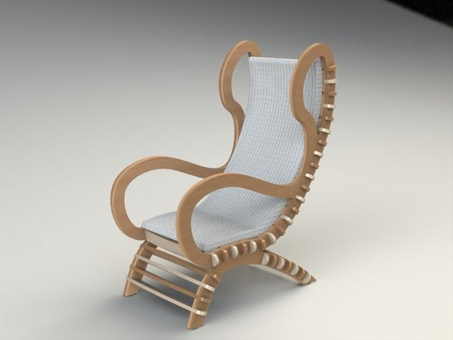 Chair 3 Fixed Clean Filat dxf File Free Download di 2019