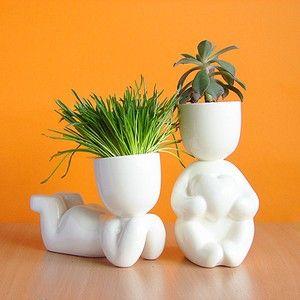 "Cute ""Romantic and Dreamer"" Plant pots"