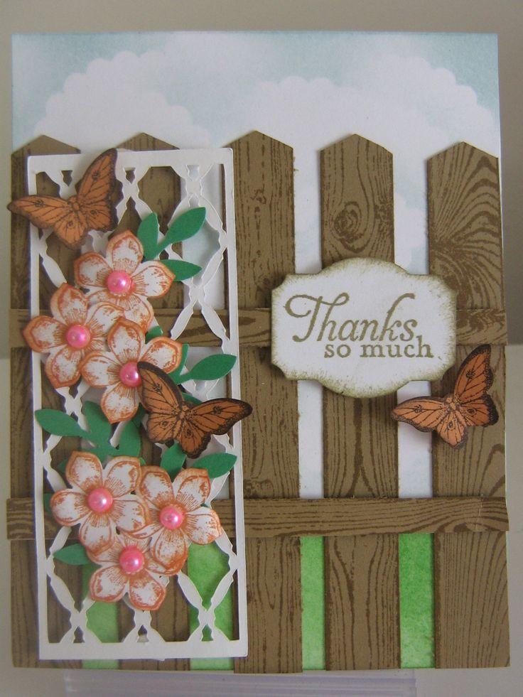 Lattice flowers,  Hardwood stamp and Petite Petals