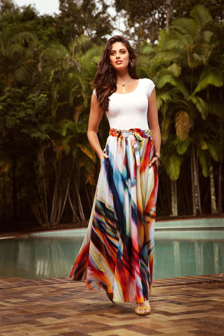 143 best images about Maxi skirts on Pinterest | Chiffon maxi ...