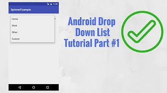 In this tutorial you will learn what is android spinner (drop down list)? and how to create spinner in android studio and use it inside your app.