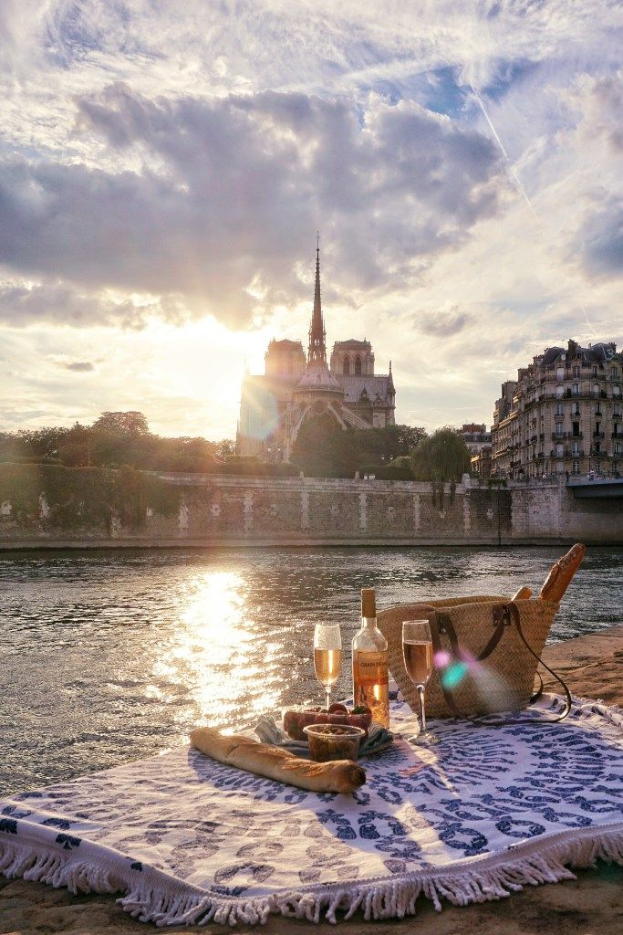 A guide to finding all of the best picnic spots in Paris, France. Enjoy a summer picnic in the park, or after a stroll along the Seine. (Photo: Picnic on a quay in front of Notre Dame)