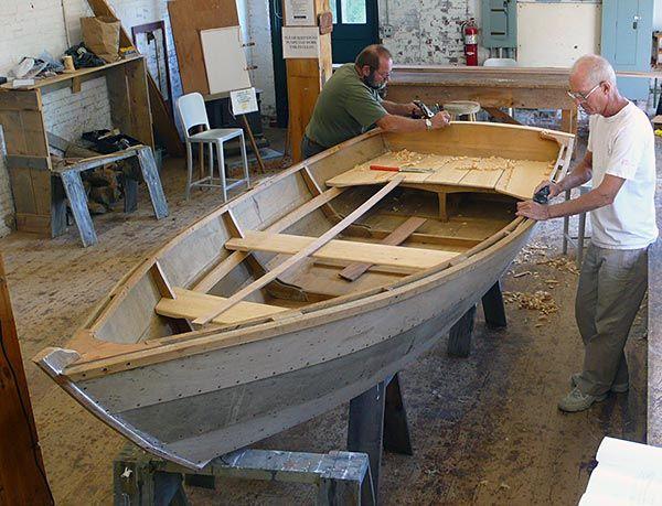 Semi доры Skiff Деревянные лодки