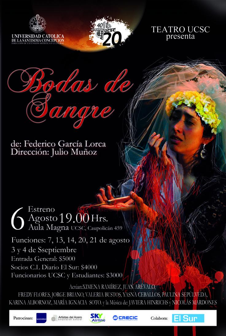 "Afiche obra de Teatro ""Bodas de Sangre"""
