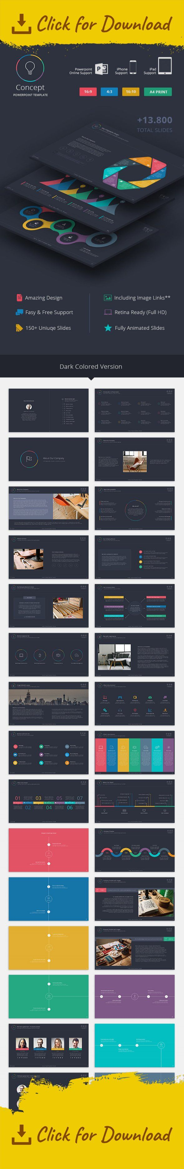 analysis, business powerpoint template, business powerpoint theme, Business Presentation Template, colorful, infographic, iPad presentation, iPhone presentation, online powerpoint presentation, portfolio, powerpoint theme Compatible versions   Powerpoint PPT   Powerpoint PPTX    Compatible Platforms  iPhone iOS iPad iOS Powerpoint Online(Web) Windows(Powerpoint PPT and PPTX)  We created versions especially for iPad, iPhone and Powerpoint Online. You can easily use Concept with your…