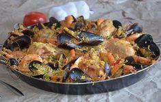 paella facile au poulet crevette et moule recette espagnole rapide