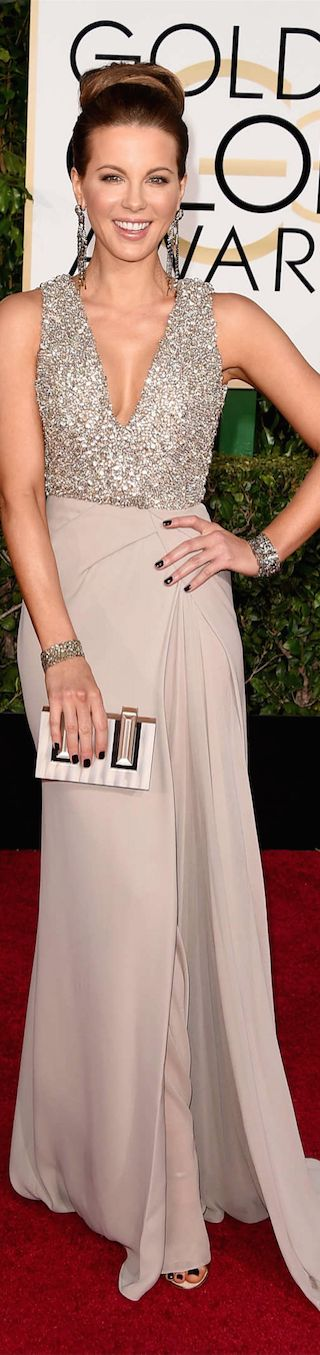 ON THE RED CARPET  via LOLO repin by BellaDonna *updated *  Kate Beckinsale 2015 Golden Globe Awards