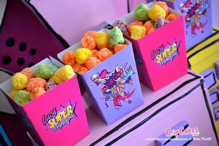 Sweet Treats from a Superhero Barbie Birthday Party via Kara's Party Ideas | KarasPartyIdeas.com (23)