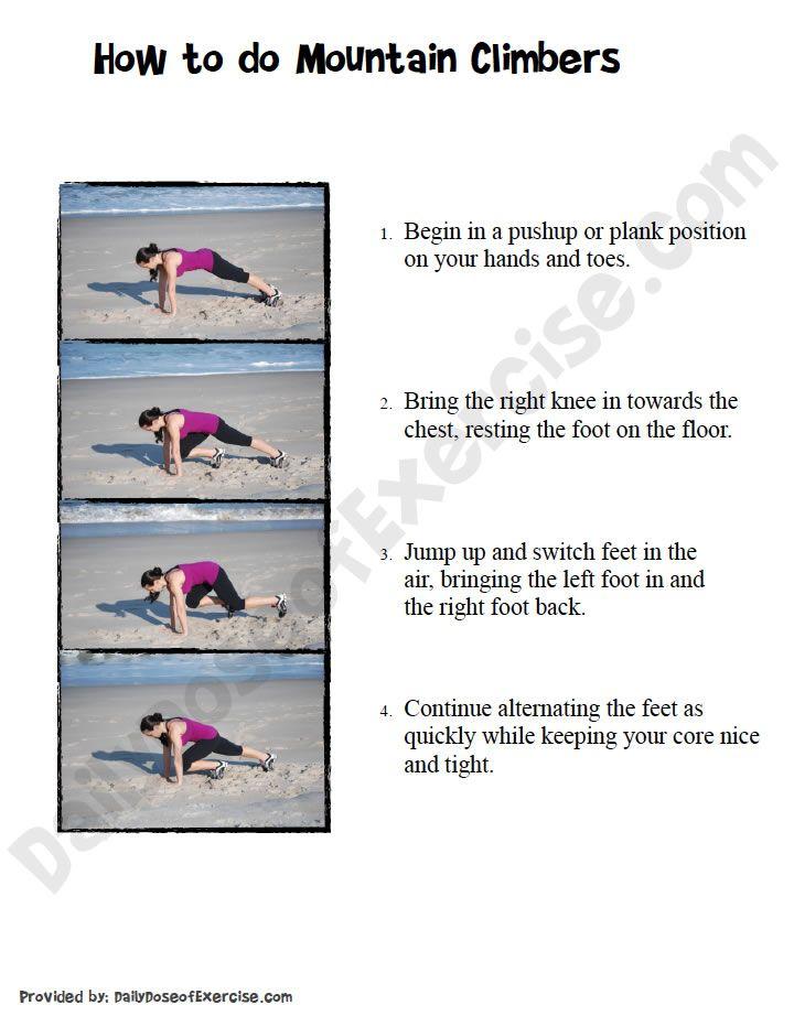 How to do Mountain Climbers Workout