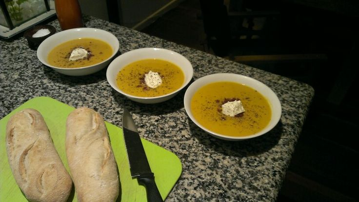 Pumpkin, chorizo & cannelini bean soup