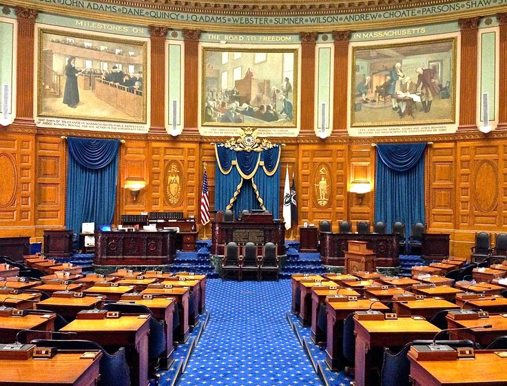 The Massachusetts House of Representatives meets here. There are 160 members. To learn more go to https://malegislature.gov/People/House.