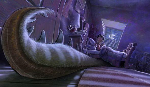 """Pojawia siękolejny potwór (w książce """"Potrzebuję mojego potwora"""")."""