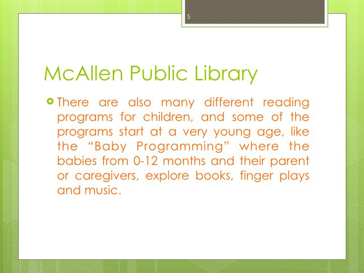 Real World Task-McAllen Public Library