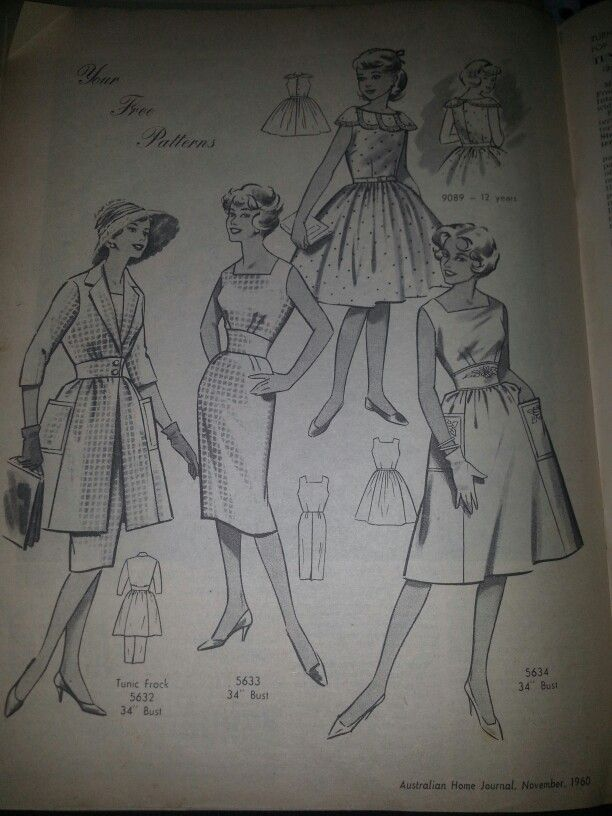 Australian home journal November 1960 - images of included patterns