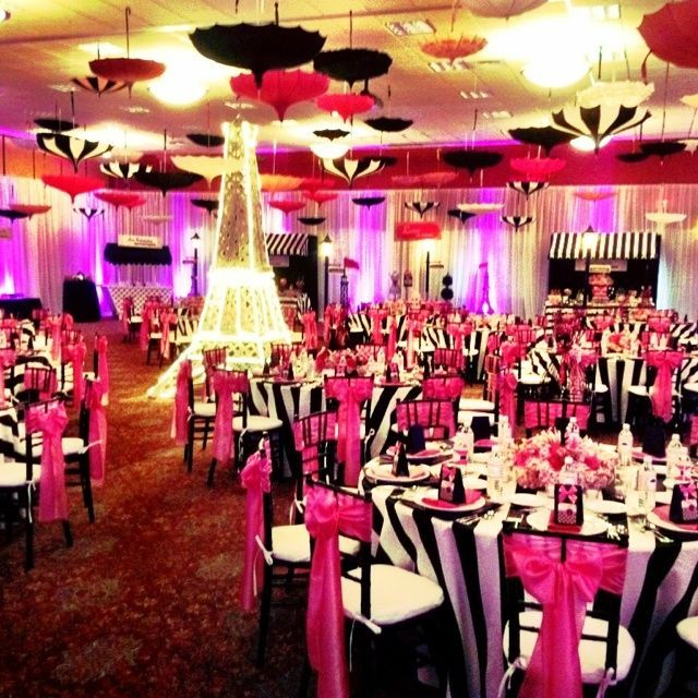 Love the umbrellas.  Would be fun to somehow incorporate into centerpieces or on auction tables.