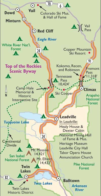 """TLC """"Colorado Scenic Drive: Top of the Rockies Scenic Byway"""""""