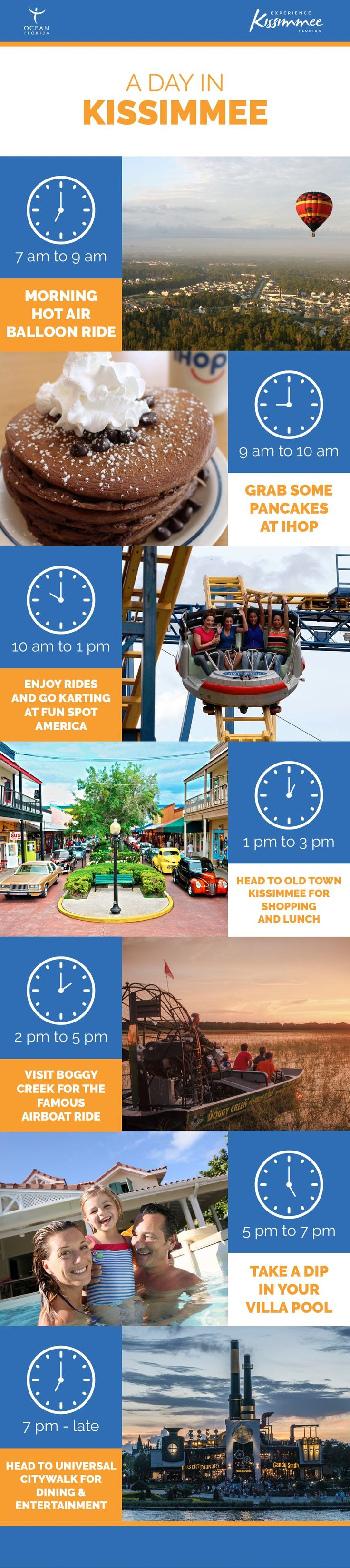 Your guide to a day in Kissimmee, Florida! ☀️#TravelTuesday : @oceanflorida