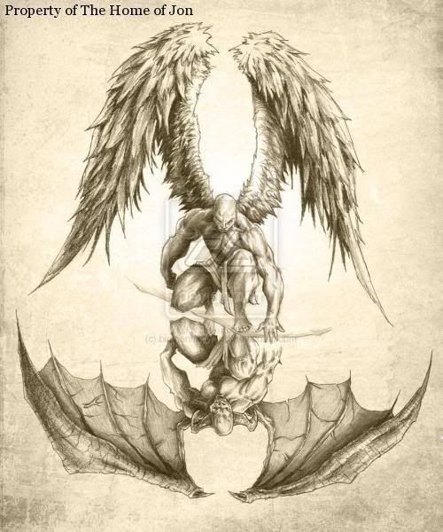 Angels and Demons Tattoo Designs | half sleeve tattoo ideas taurus tattoos for men phoenix tattoos for ...
