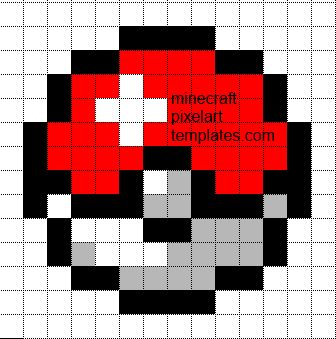 Minecraft Pixel Art Templates: Pokeball