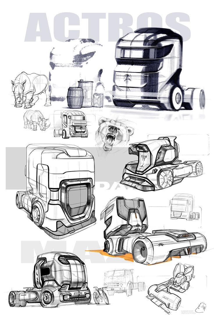 Truck concept sketches.