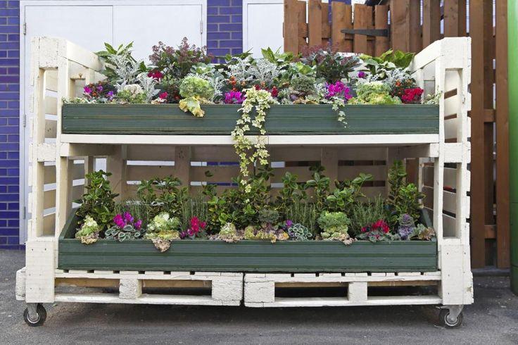 Orto fai da te con pallet  * DIY pallet vegetable garden