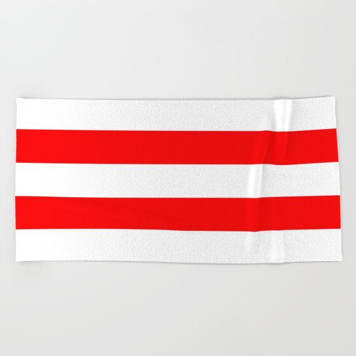 Australian Flag Red And White Wide Horizontal Cabana Tent Stripe
