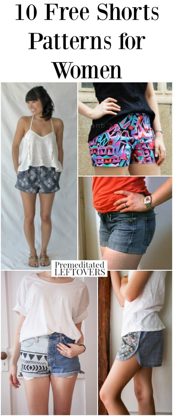 10 Free Shorts Patterns for Women - Frugal summer life hacks: save money on your summer wardrobe with these sewing patterns and easy tutorial! Dress in cute summer clothes on a budget!