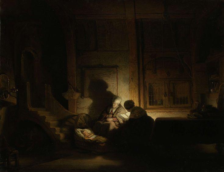 De heilige familie bij avond, workshop of Rembrandt Harmensz. van Rijn, ca. 1642 - ca. 1648