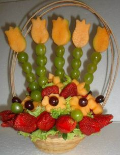 originales arreglos frutales fiestas infantiles