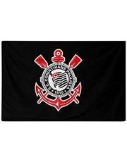 Bandeira Corinthians Logo Central