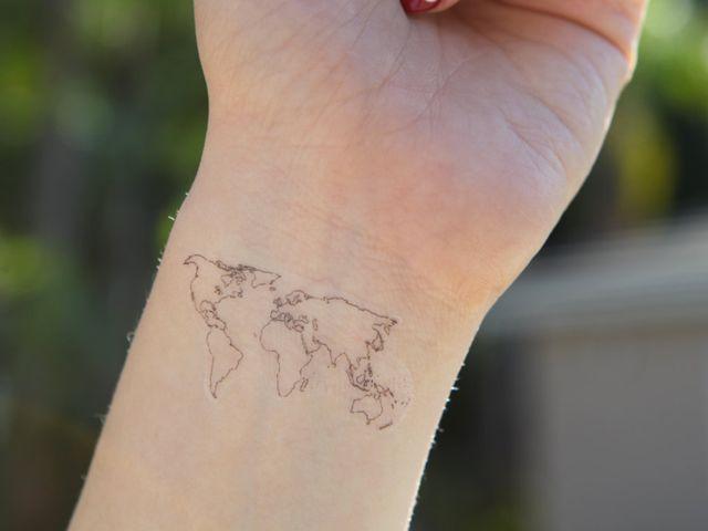tatuagens mapa mundi - Pesquisa Google