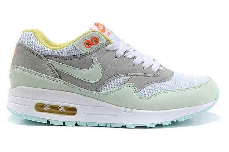 Nike Womens Sneakers Air Max 1 319986-331 Grey/Jade/White classic Running Casual Shoes