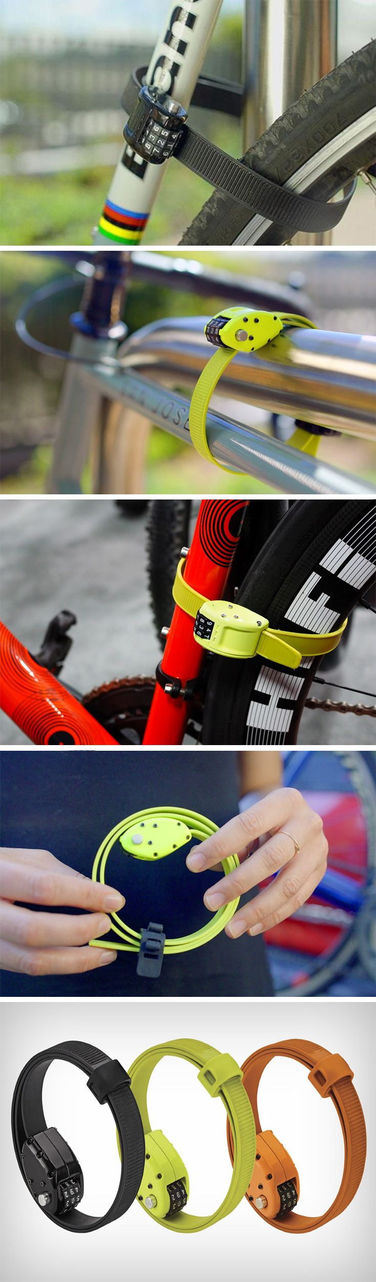 While most bike locks or travel locks are made from metal the Ottolock uses one of the most light yet powerful polymers known to man. Kevlar. The same material used in bulletproof vests, the Kevlar fr