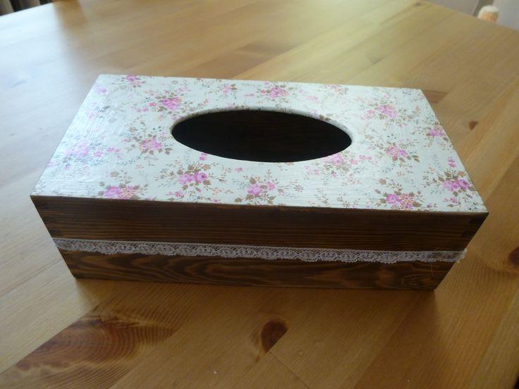 drewniany chustecznik #handmade #decoupage #chustecznik