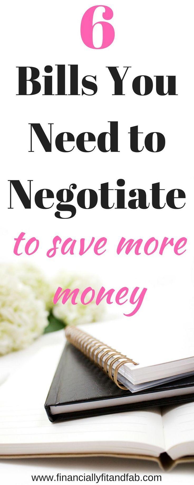 6 Bills you Need to Negotiate to Save More Money | Saving Money | Budgeting | Saving | Money Management | How to Save Money