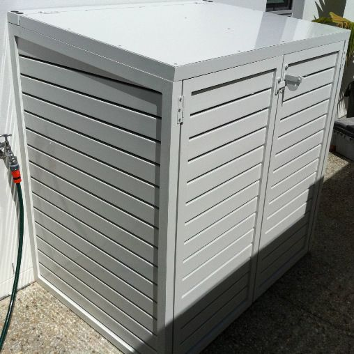 pool filter cover in white