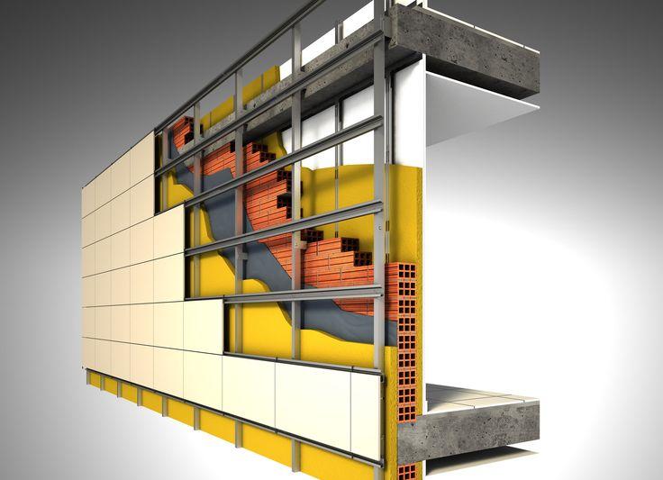 Composición fachada ventilada