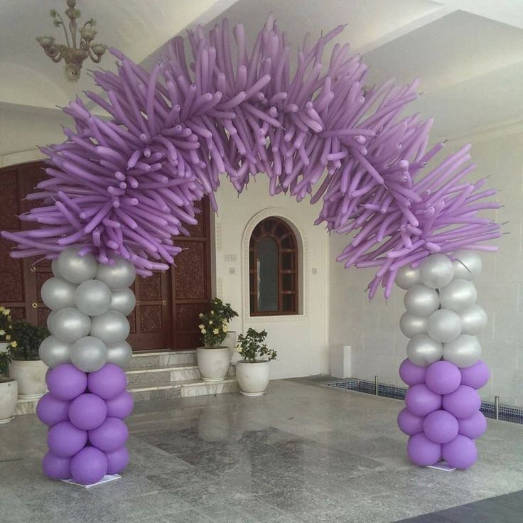 Image result for pantone purple balloon arch
