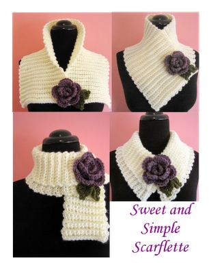 BellaCrochet: Something New or Tried and True? Sweet and Simple Scarflette