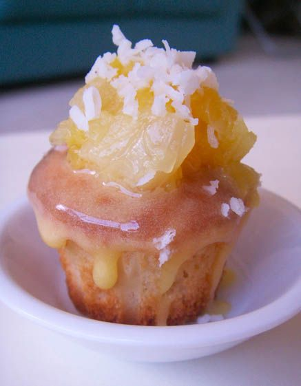 Tropical Pineapple-Coconut Cupcakes #yummycupcakes #cupcakes