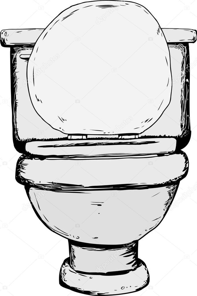 Single Hand Drawn Toilet Open Lid Front View Stock Photo Affiliate Toilet Open Drawn Single Ad How To Draw Hands Digital Clip Art Toilet