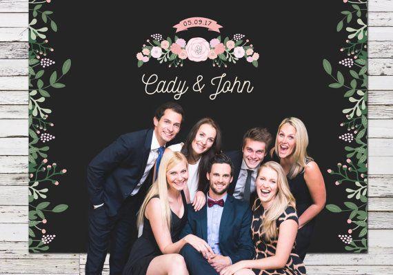 Rustic Wedding Backdrop Chalkboard Backdrop by MissDesignBerryInc