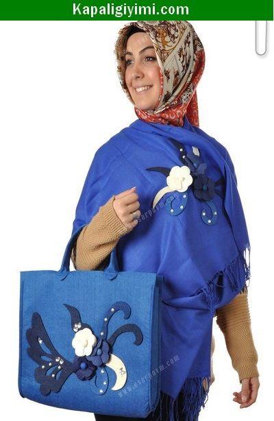 Keçeli Şal Çanta Takımı Modelleri Fiyatları